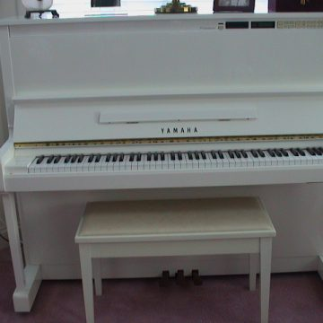 Upright Yamaha piano with Disklavier midi